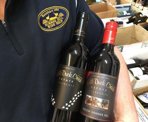 Heathcote's Wild Duck Creek Estate Red Wine is Flying High, Springflat, Muck Shiraz (2017), or Yellow Hammer Hill