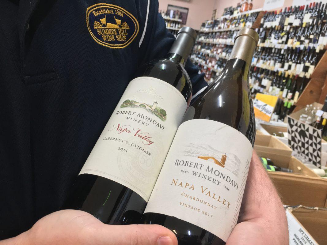 Robert Mondavi Wines Californina Napa Valley, Cabernet Sauvignon and Chardonnay Vintage Private Selection