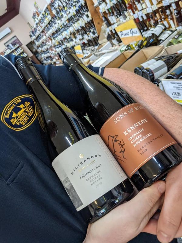GSM Wine Blends, Sons of Eden, Kennedy Grenache Shiraz Mourvedre and Killermans Run, Grenache Shiraz Mataro